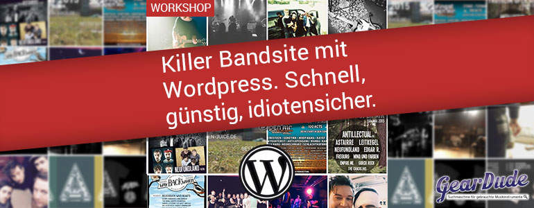 Bandhomepage mit WordPress