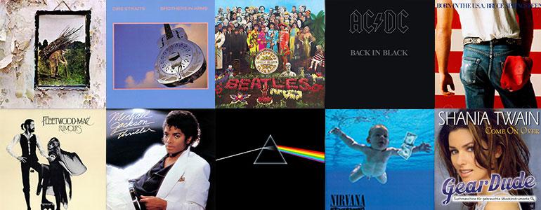 Die 10 meist verkauften Alben
