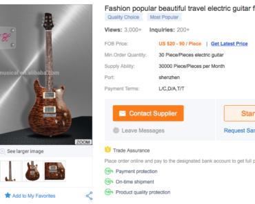 Gebrauchte Gitarre Billige Eigenmarke