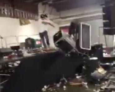 Wenn die Bühne zerstört wird